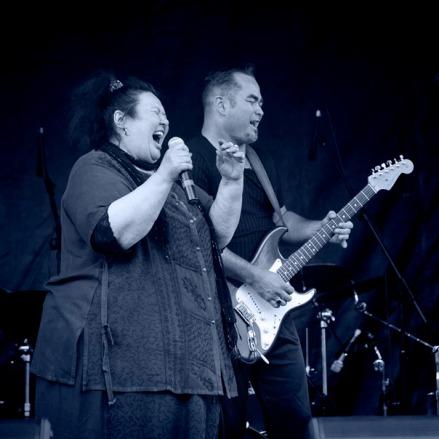 Mahia Blackmore with Billy TK Jr